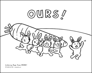 MINE! Coloring Page 2